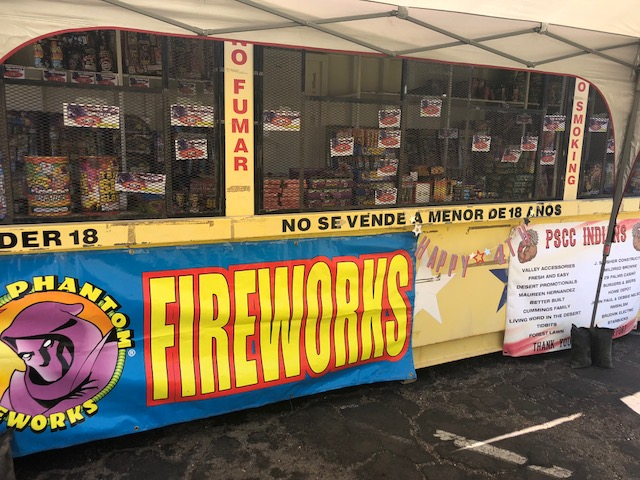 Firework sales are only legal in certain cities in the Coachella Valley