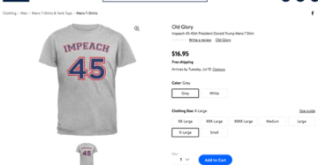 'Impeach 45' T-Shirts Cause a Stir; Social Media Users Call for Walmart Boycott