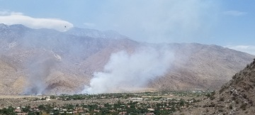 Fire Breaks Out On Tribal Land in South Palm Springs, 45% Contained