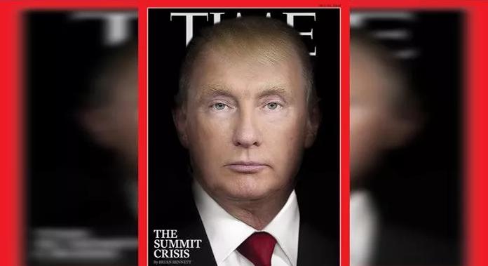 Time magazine morphs Trump and Putin together