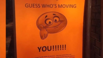 'Guess who's moving?': Rude eviction notice goes viral