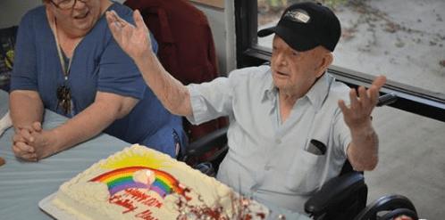 WWII Veteran and Former Prisoner of War Celebrates 100th Birthday