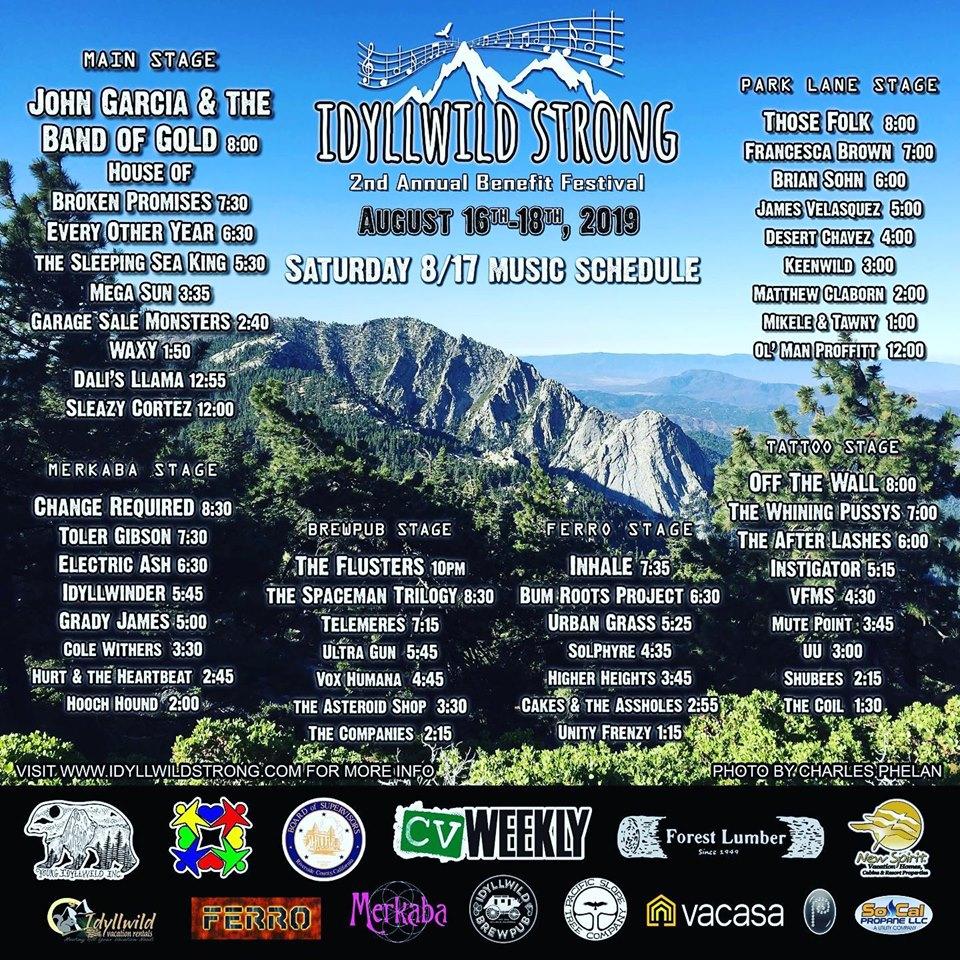 2nd Annual Idyllwild Strong Benefit Festival Kicks Off Tonight