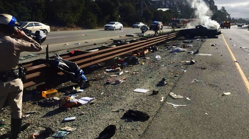 Report: 5-year-old ejected when mom distracted by cell phone flips truck on highway