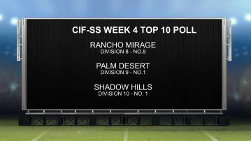 CIF-SS Week 4 Top 10 Poll