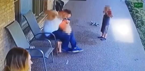 Dad faces child abuse charges after video shows him spanking, kicking 6-year-old
