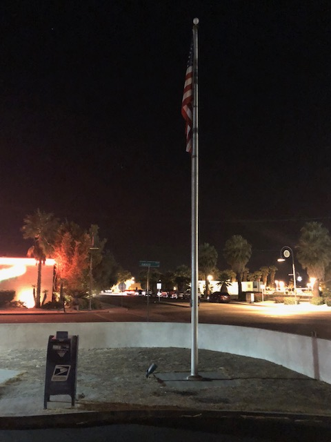 War Vet requests local post office light up its flag