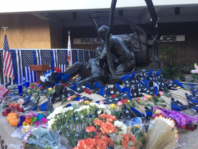 Remembrance Ceremony In Palm Springs Honors Fallen Officers On Two Year Anniversary