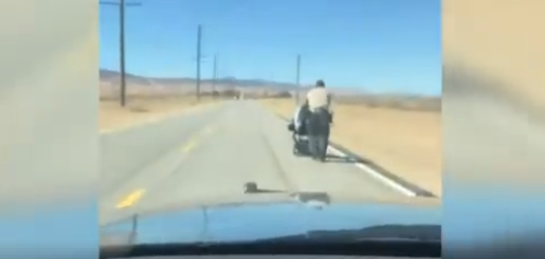 Deputies Get Kudos For Going the Extra Mile (Literally) For Woman in Wheelchair