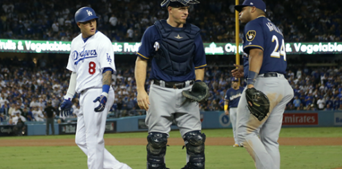 Dodgers' Manny Machado Fined by MLB for Kicking Brewers Jesús Aguilar