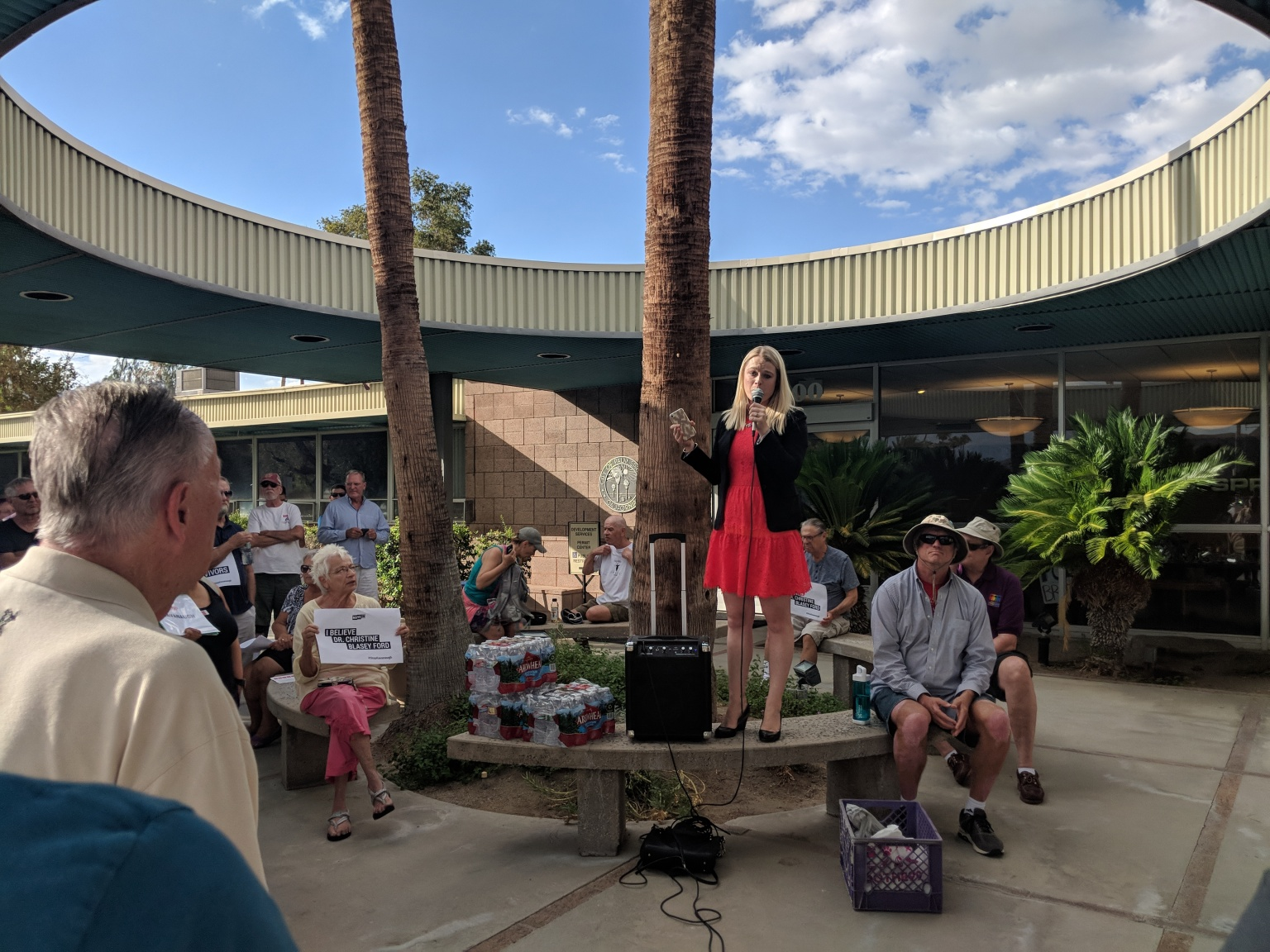 Palm Springs Community Joins National 'Stop Kavanaugh' Rally