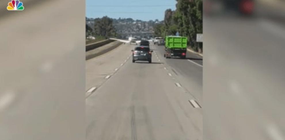 Watch: Airplane Lands on Interstate 8 in El Cajon, East of San Diego