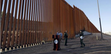 DHS chief marks first section of Trump's border wall. (But it kinda looks like a fence.)