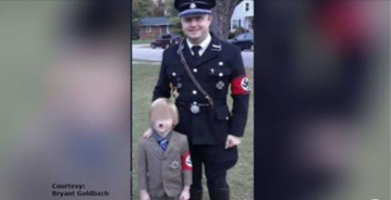 Dad says he didn't expect backlash over father-son Nazi costumes