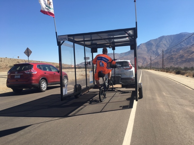 World Record Holder Rides Through Coachella Valley On A New Mission