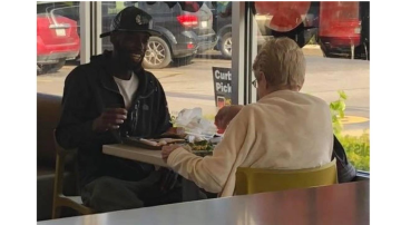 Strangers having lunch at Indiana McDonald's go viral