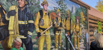 """Heroes Mural"" Honoring Firefighters Unveiled at Idyllwild Public Library"