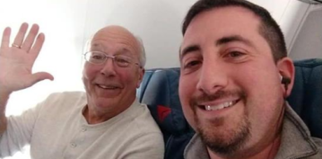 Father of flight attendant who worked over Christmas joins her on every flight