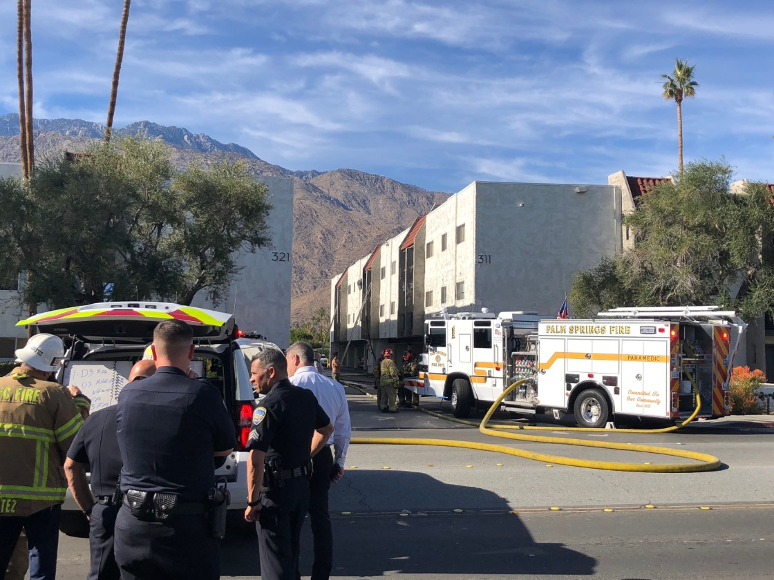 Fire Breaks Out at Palm Springs Apartment Building, Residents Evacuated