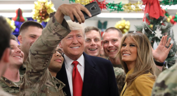 Trump makes surprise visit to U.S. troops in Iraq, his first to a combat zone