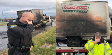 Officers Post Photos 'Mourning' Loss of Doughnut Truck in Fire