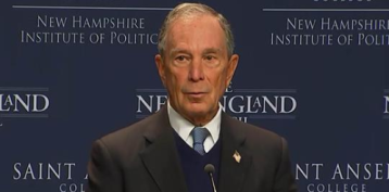 Bloomberg criticizes Trump's handling of government shutdown, climate change
