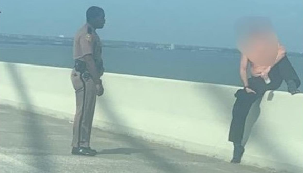 Trooper saves man from jumping off Sunshine Skyway Bridge