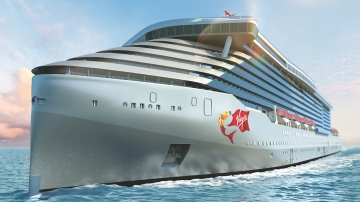 Richard Branson launches his luxury, adults-only cruise ship