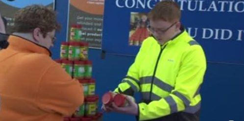 Teen Who Won Lifetime Peanut Butter Supply Hands Out Jars to Furloughed Workers