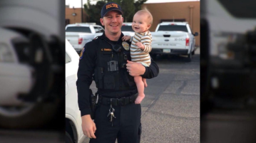 Report: Officer killed by driver who was texting leaves behind wife, 10-month-old