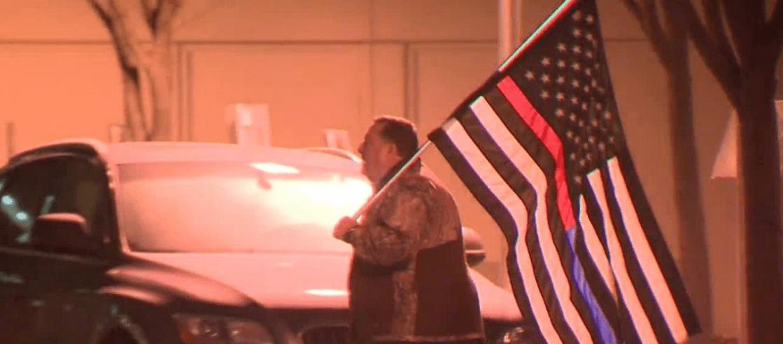 Man stood watch outside hospital after he heard officer was shot