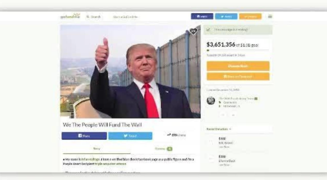 GoFundMe is refunding $20 million in donations made to 'Trump Wall' campaign