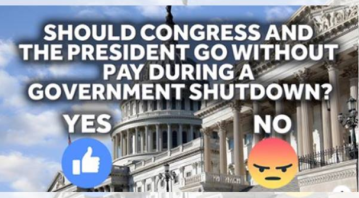 Bill would withhold pay from president, Congress during government shutdowns