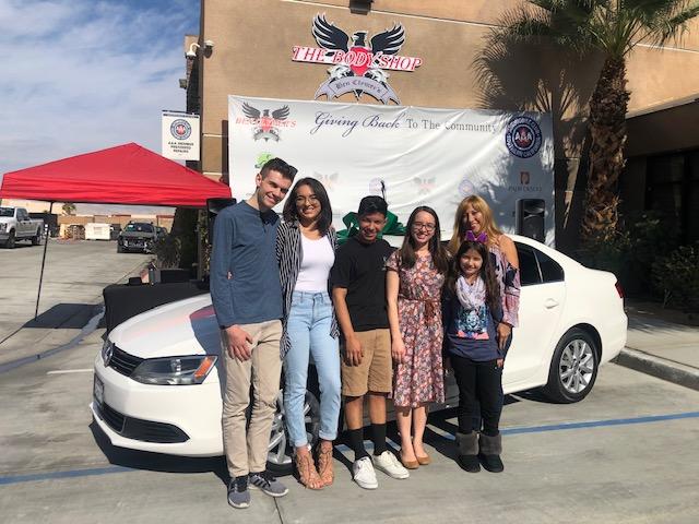 Local family wins a car thanks to good samaritans
