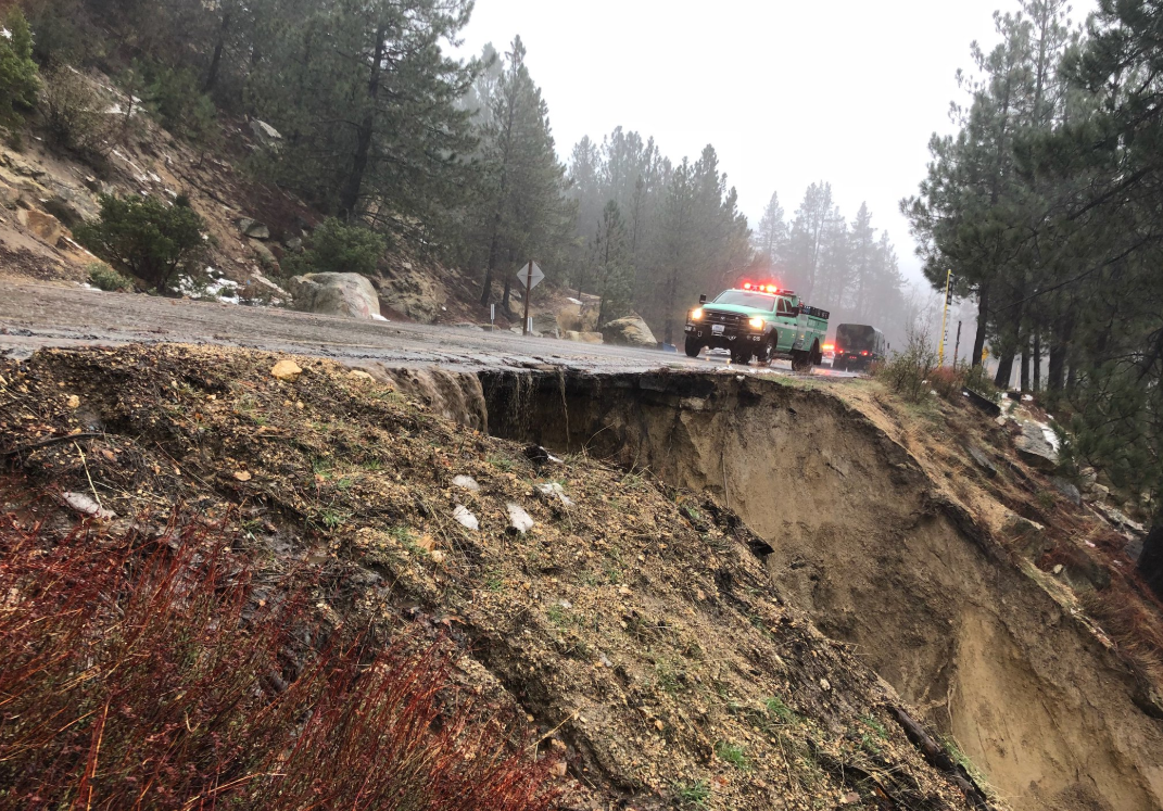 Segments of Mountain Highway Fall Apart Amid Heavy Rains