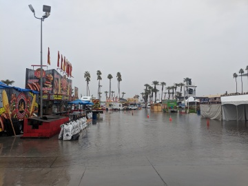 Flooded Fairground Will Not Halt Opening Day