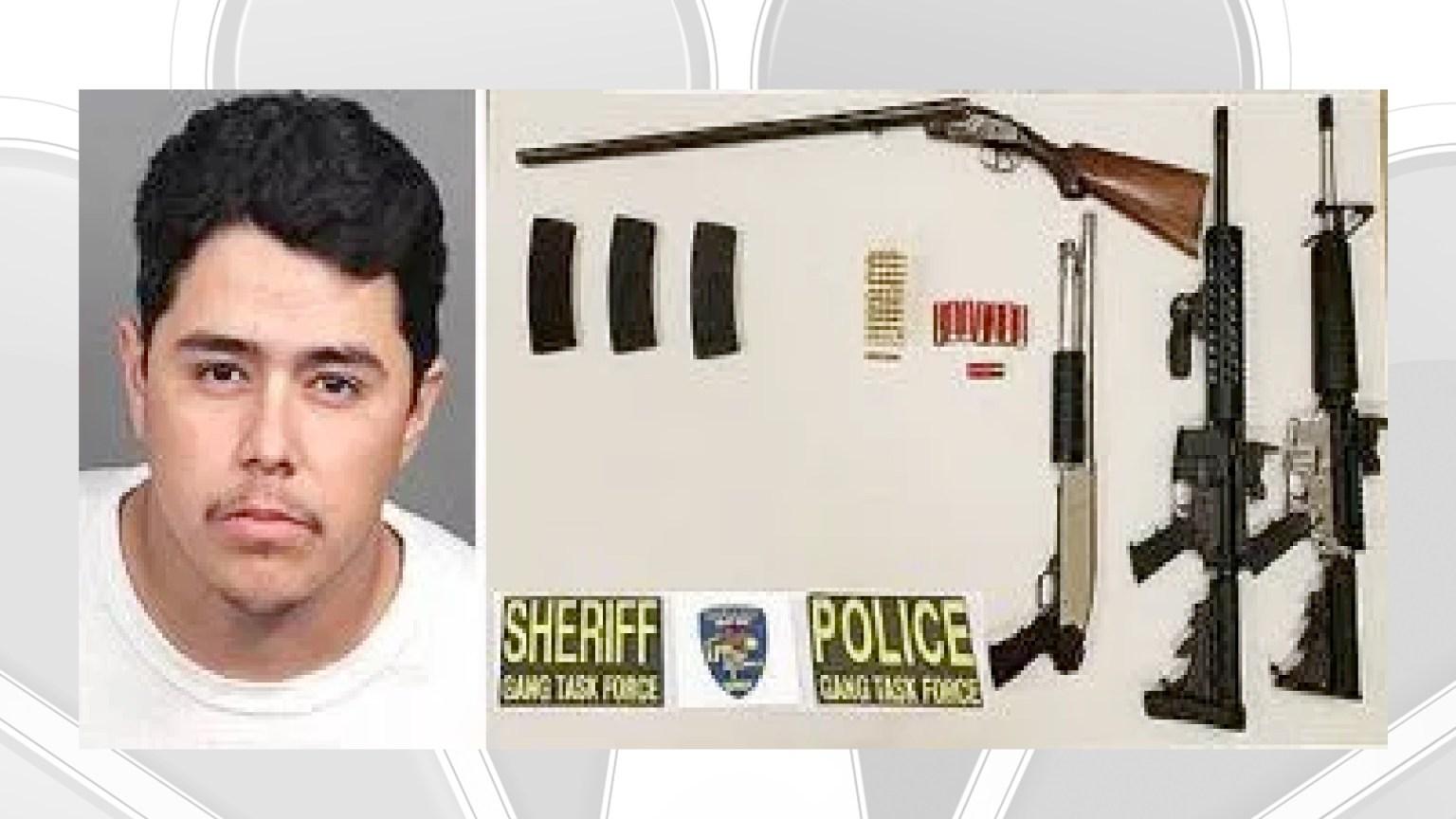 Gang Member Suspected Of Shooting At Two People Behind Bars