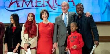 George W. Bush says 'immigration is a blessing and a strength' during naturalization ceremony
