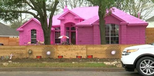 Texas man paints home pink, neighbors complain