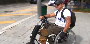 'I Love to Work': Paraplegic Uber Eats Courier Has Impressive Track Record