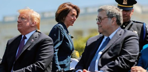 """""""Did you bring your handcuffs?"""" AG Barr ribs Pelosi about contempt finding"""