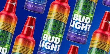 Bud Light Releases Rainbow-Inspired Bottles for Pride Month