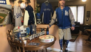 Lifelong Dodgers Fan With the Team Logos on His Prosthetic Legs Will Throw Out the First Pitch