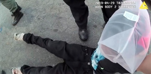 Sacramento police handcuff 12 year old, place 'spit bag' over his head