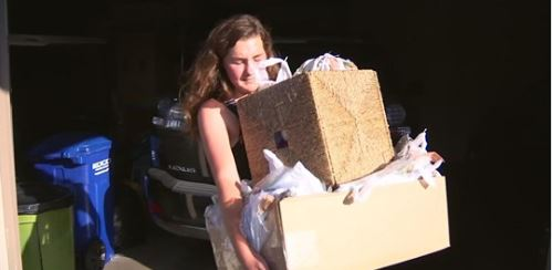 Teen Turning Plastic Bags Into Sleeping Mats for Homeless