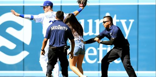 Young Fan Runs Onto the Field at Dodger Stadium to Hug Cody Bellinger