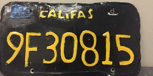 This Fake License Plate Got a Motorcycle Officer's Attention