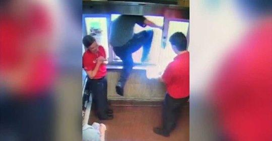 Chick-fil-A worker climbs through drive-thru window to save choking boy