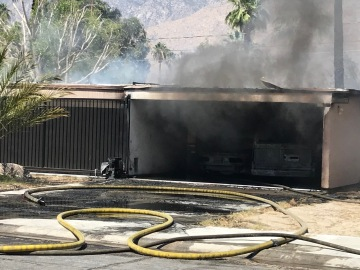 Car Fire Spreads to Palm Springs Home