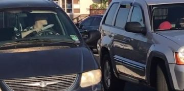 'Who Does That?' Minivan Driver Appears to Lick Knife During Long Beach Road Rage Encounter